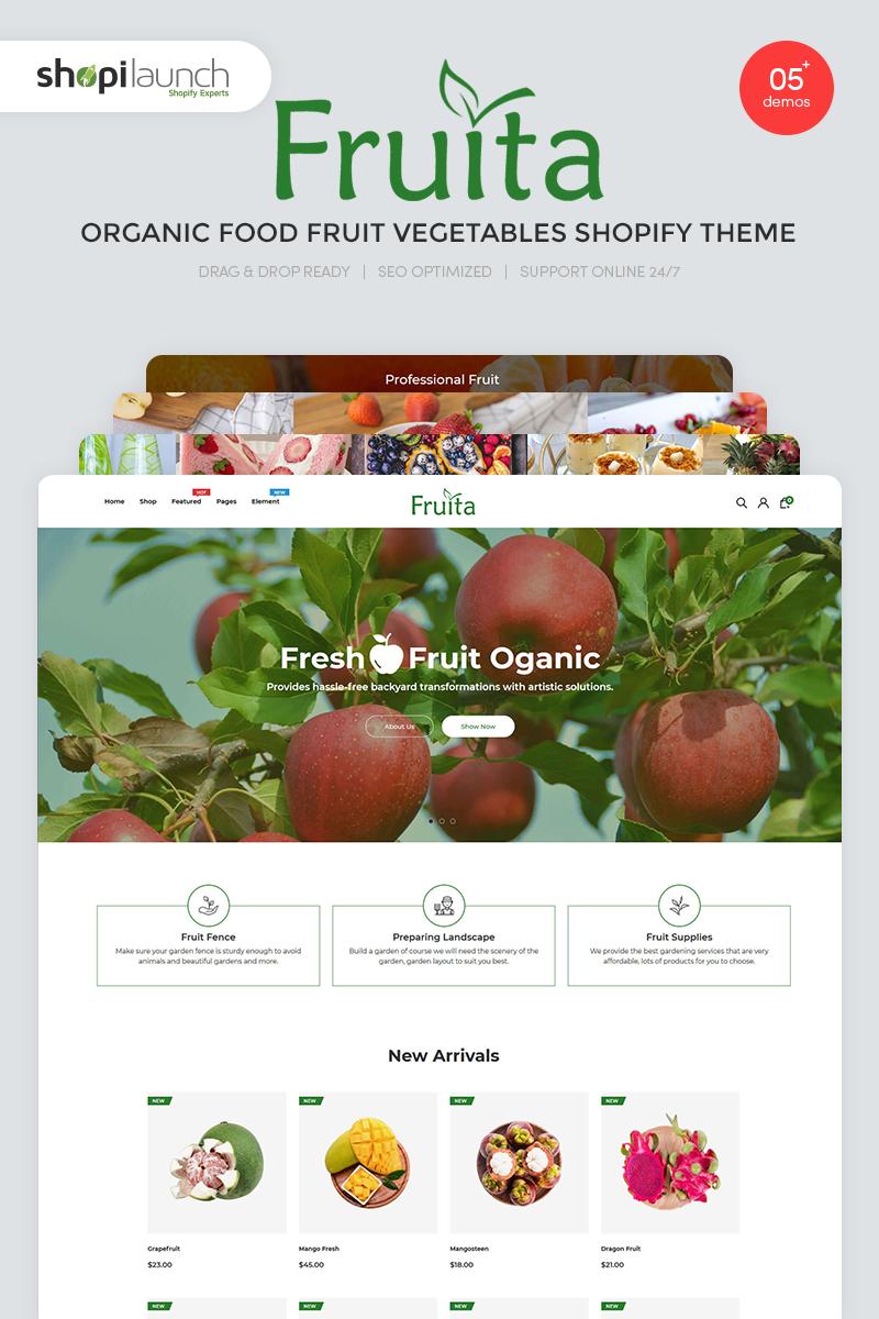 """Fruita - Organic Food Fruit Vegetables"" - Shopify шаблон №99613"