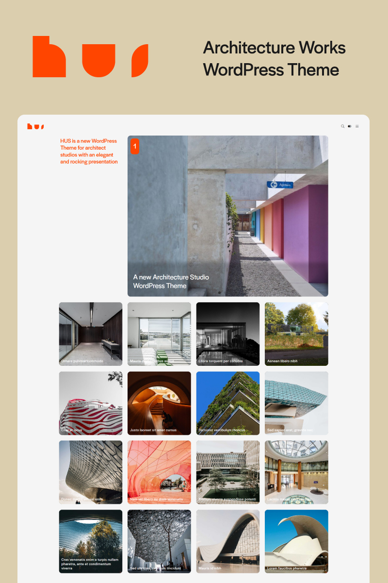 HUS - Architecture Studio Works WordPress Theme