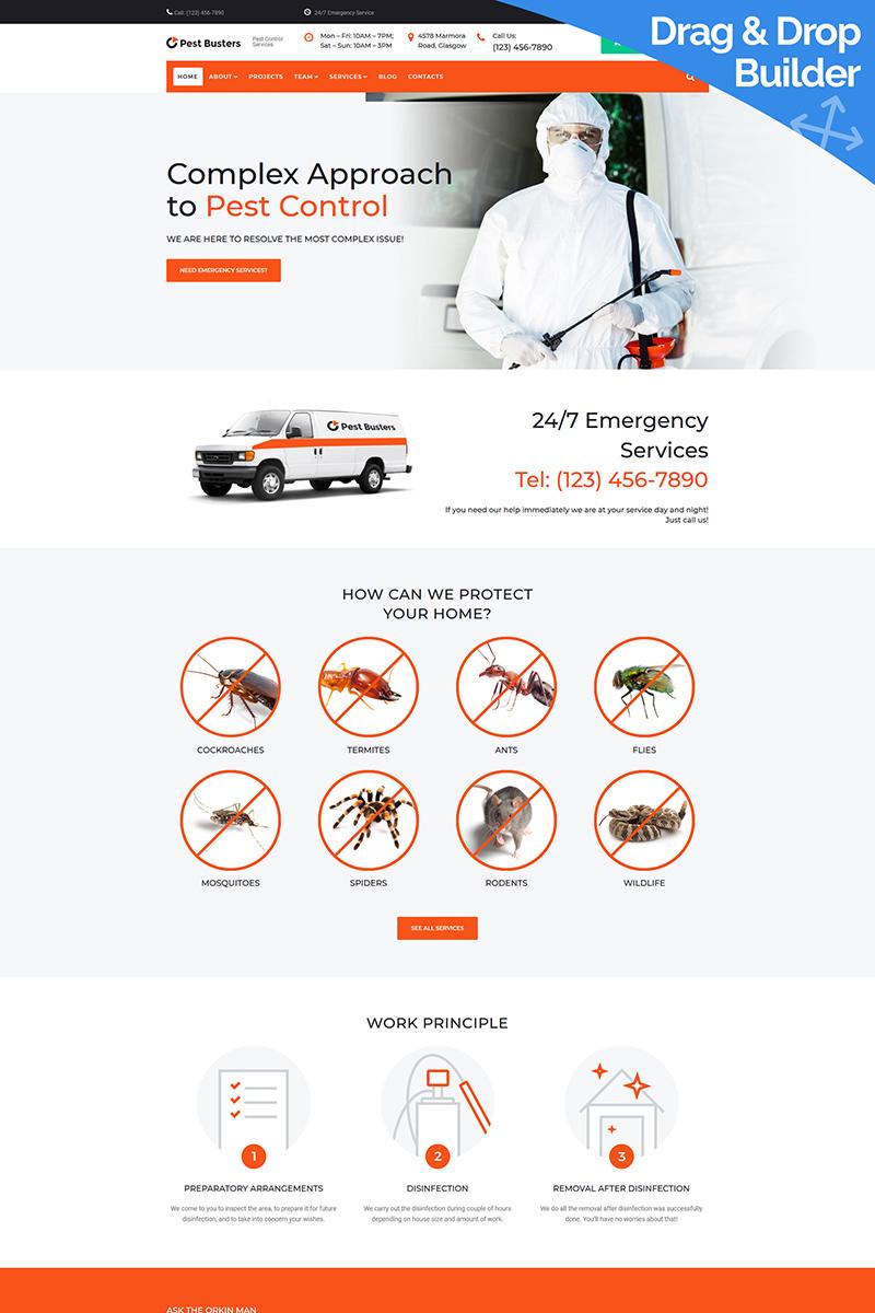 """PestBusters - Pest Control"" - адаптивний MotoCMS 3 шаблон №99615"