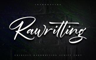 Rawriting | Uniquely Handwriting Cursive Font