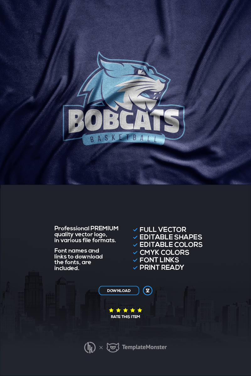 "Šablona logotypu ""Bobcats"" #99691"