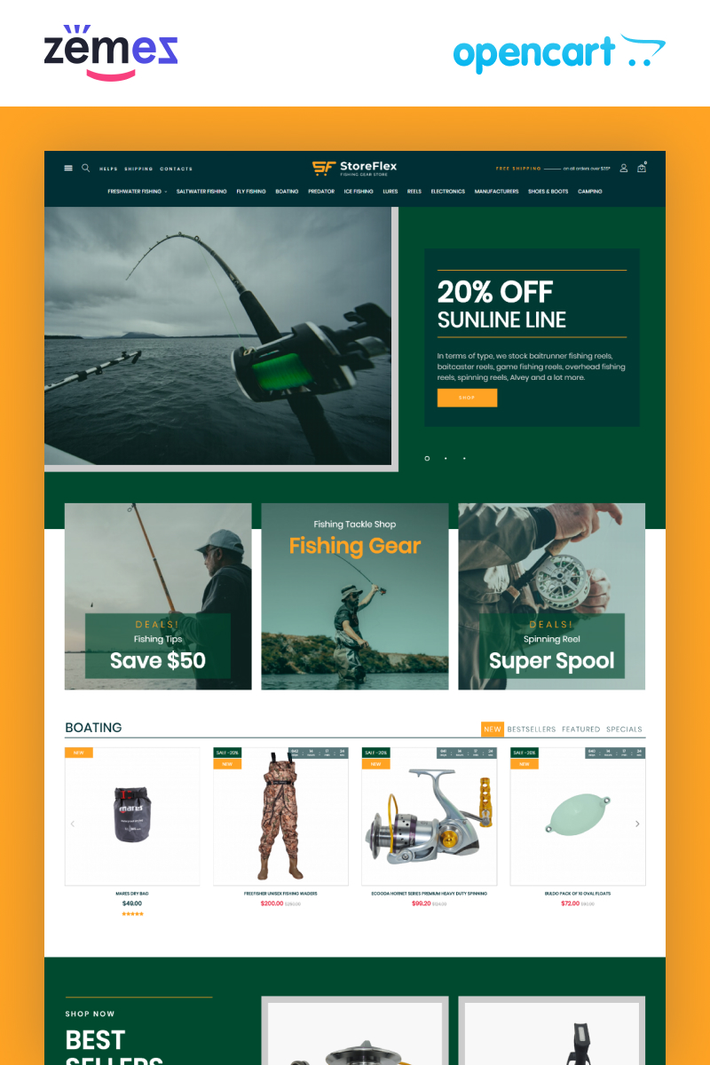 Storeflex Fishing Store Template №99606