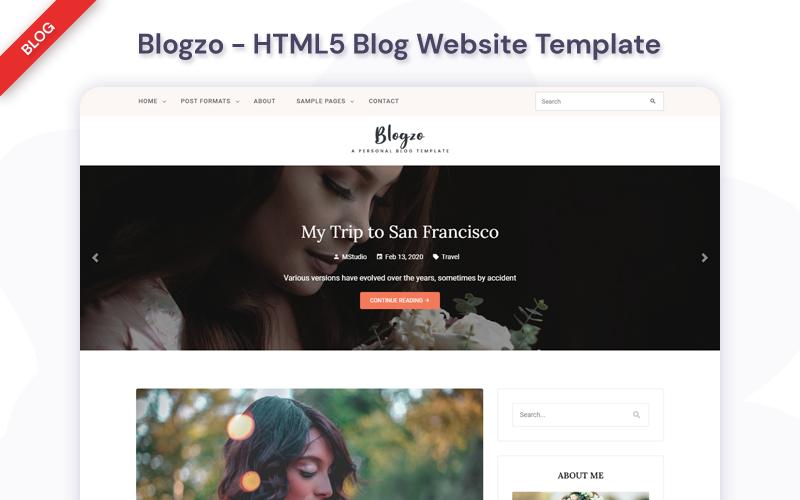 "Website Vorlage namens ""Blogzo - HTML5 Blog"" #99608"