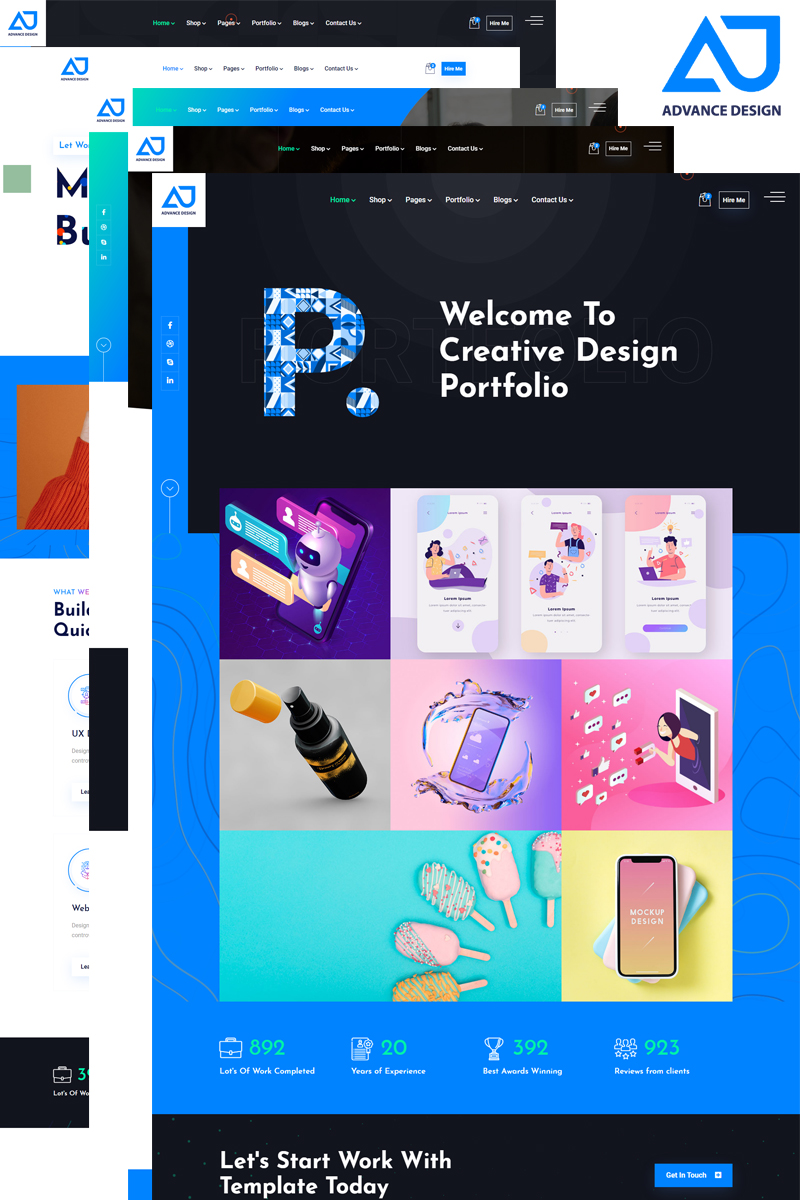 Advance Design - Portfolio with Ecommerce HTML5 №99730