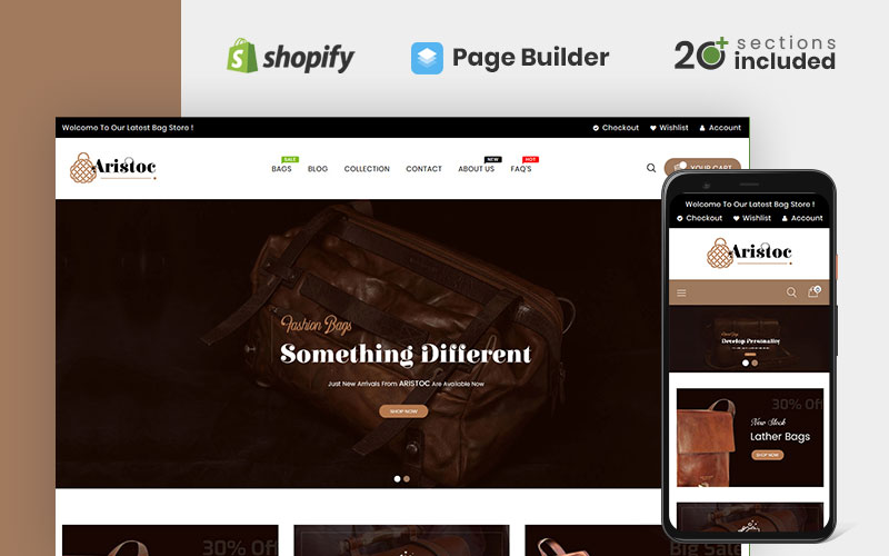 Aristoc Bags & Fashion Store Shopify Theme