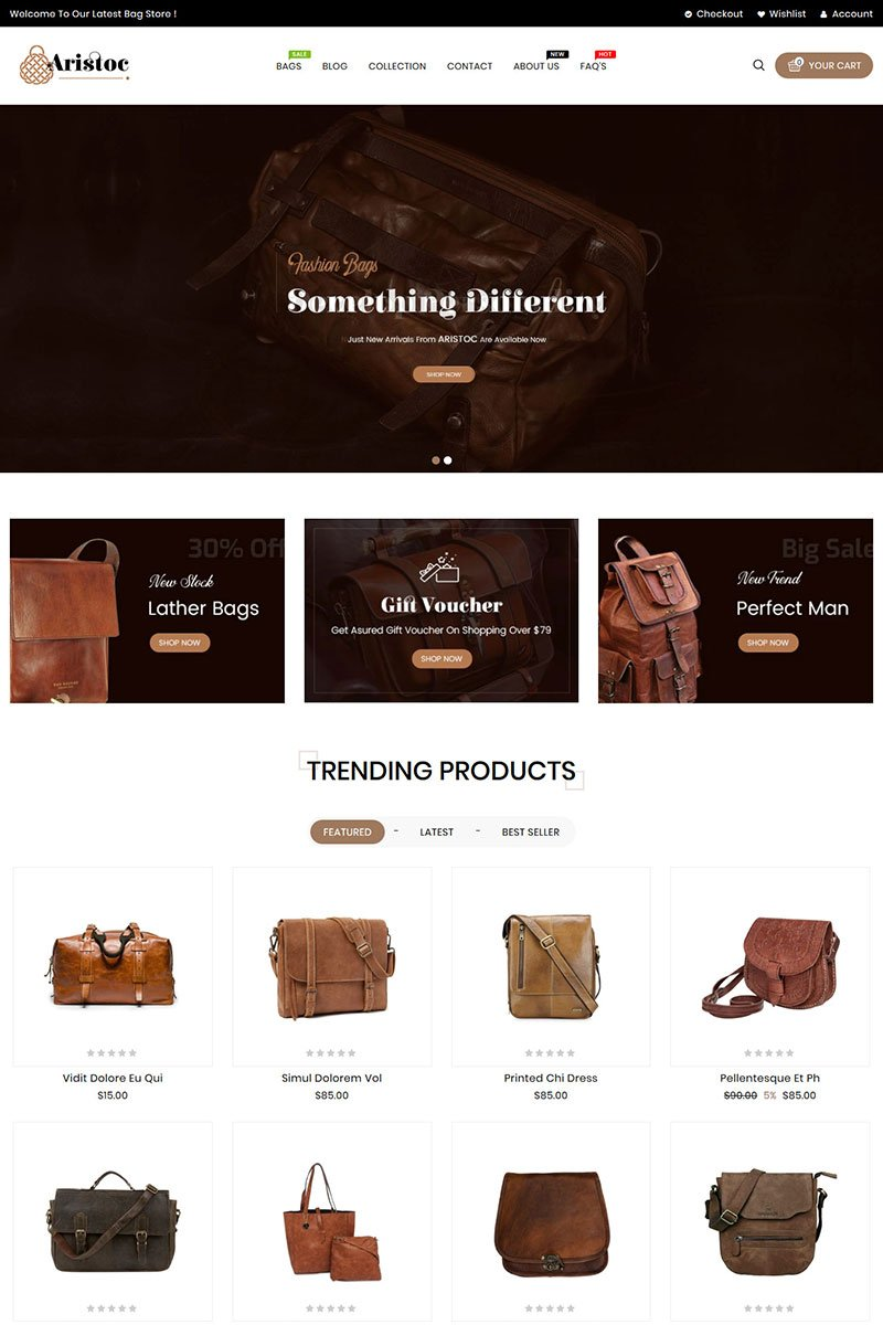 Aristoc Fashion Shopify Theme