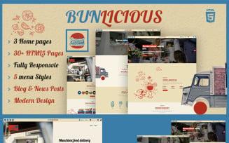 Bunlicious | Food truck and Restaurant HTML 5 Website Template