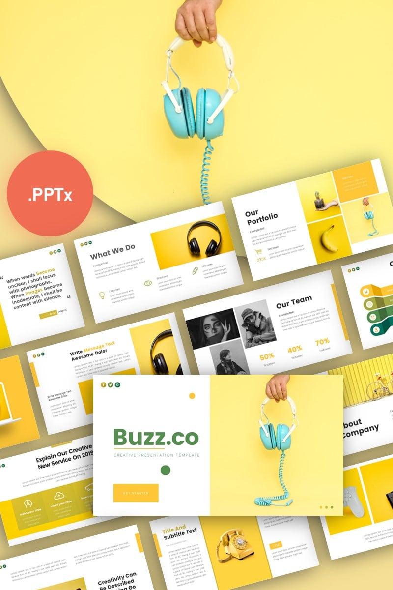 Buzz Creative Business Presentation PowerPoint Template