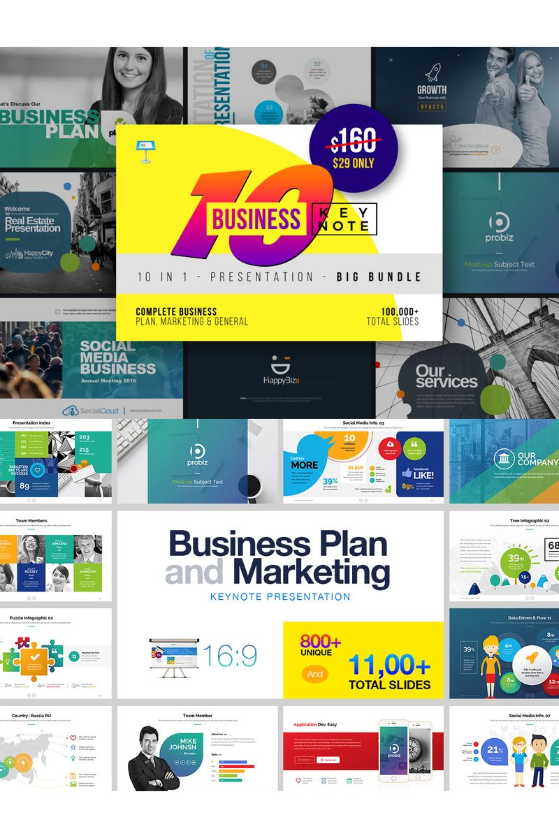 "Plantilla Keynote ""Business Bundle"" #99745"