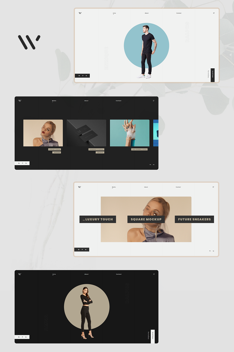 AwW - Creative Portfolio Website Template