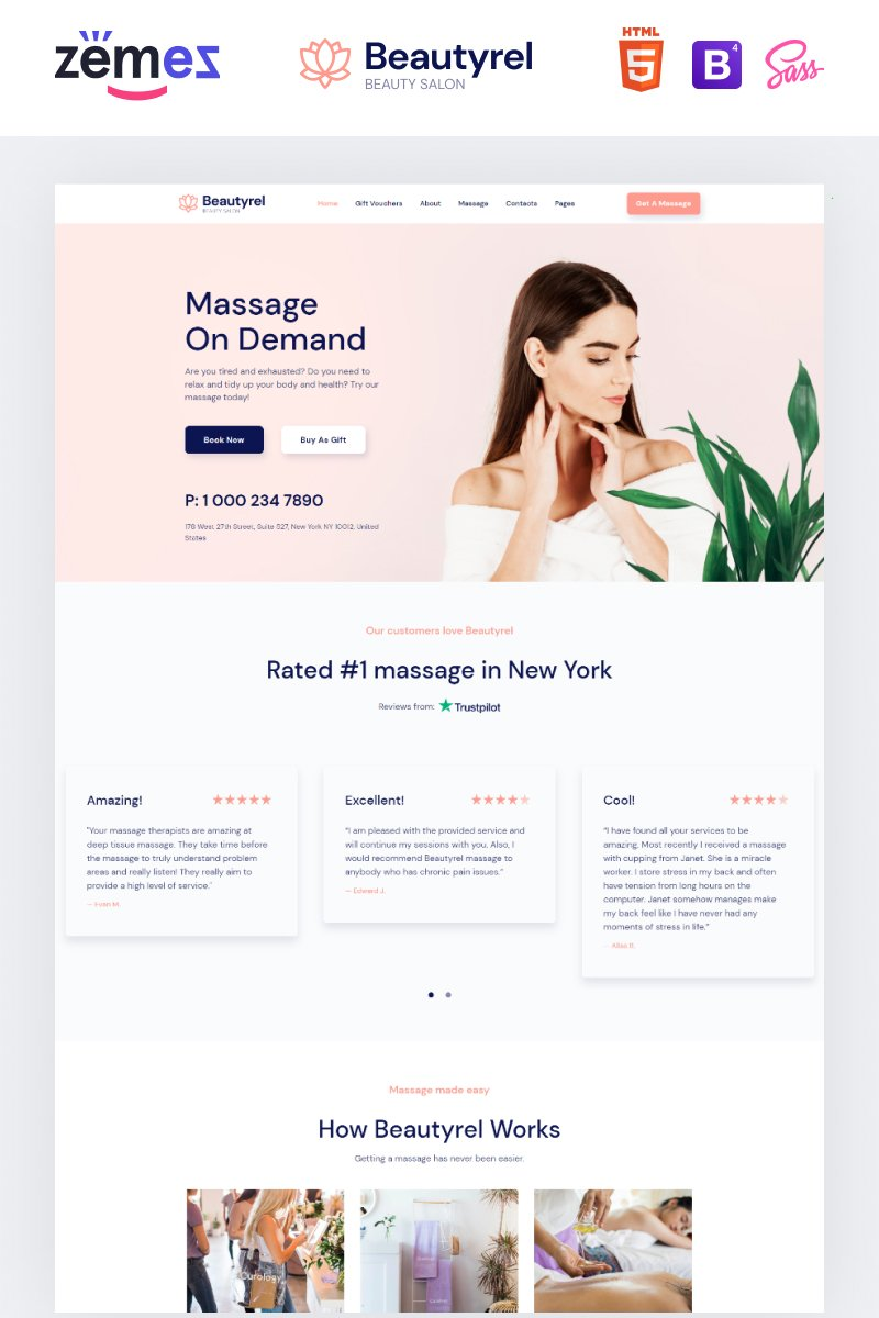 Beautyrel - Beauty Salon Responsive Website Template
