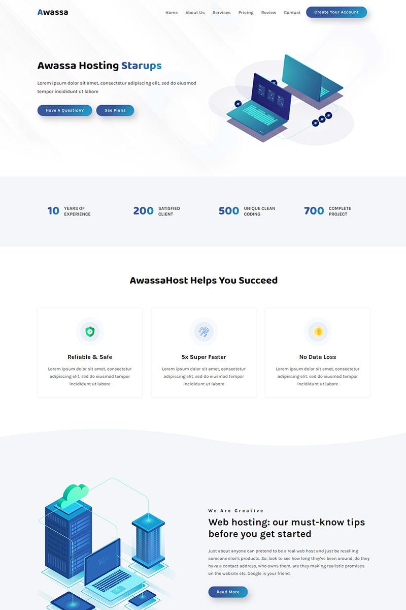 Bootstrap Awassa - Domain & Hosting Açılış Sayfası #99817