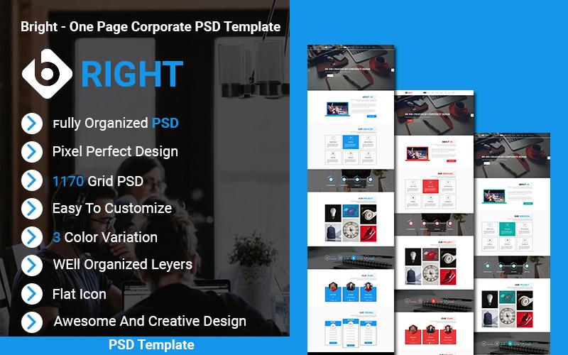 Bright - Creative Corporate PSD Template