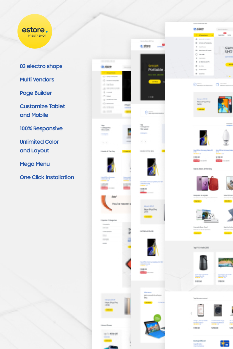 """Gstore - Marketplace for Multivendor"" - адаптивний PrestaShop шаблон №99864"