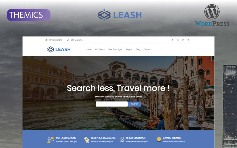 Leash - Tour & Travel Agency WordPress Theme