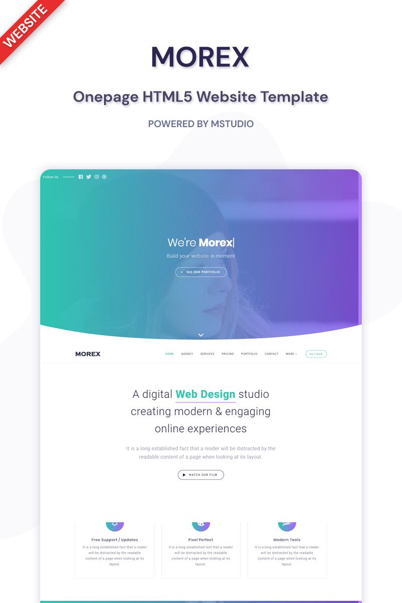 Morex - Landing Page Template Landing Page Template
