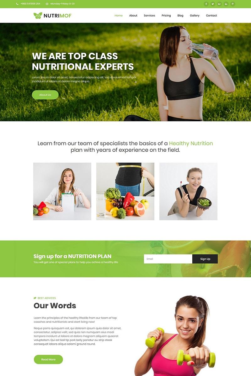 """Nutrimof - Nutritional & Health"" Responsive WordPress thema №99813"