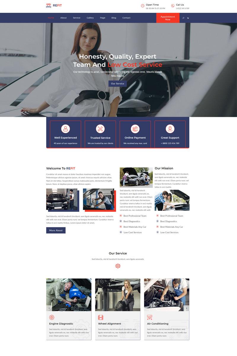"""REFIT-Car Wash And Repair Service"" - Muse шаблон №99818"