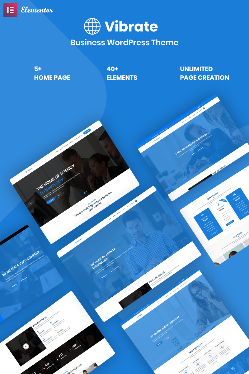 Responsivt Vaibrate - Business Responsive WordPress-tema #99819