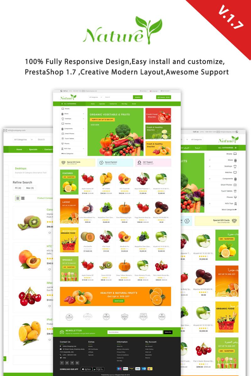 Responsywny szablon PrestaShop Nature Responsive #99815