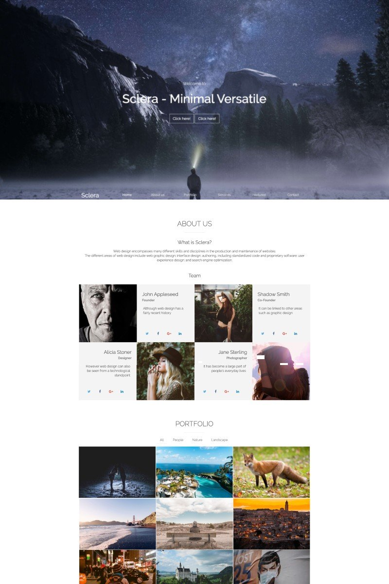 Sclera Landing Page Template