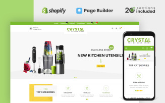 Crystal Kitchen Store Shopify Theme