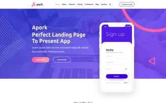 Apork - Product Landing WordPress Theme