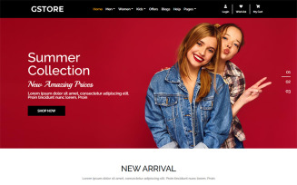 GSTORE Multipurpose Website - Online Store HTML Template Website Template