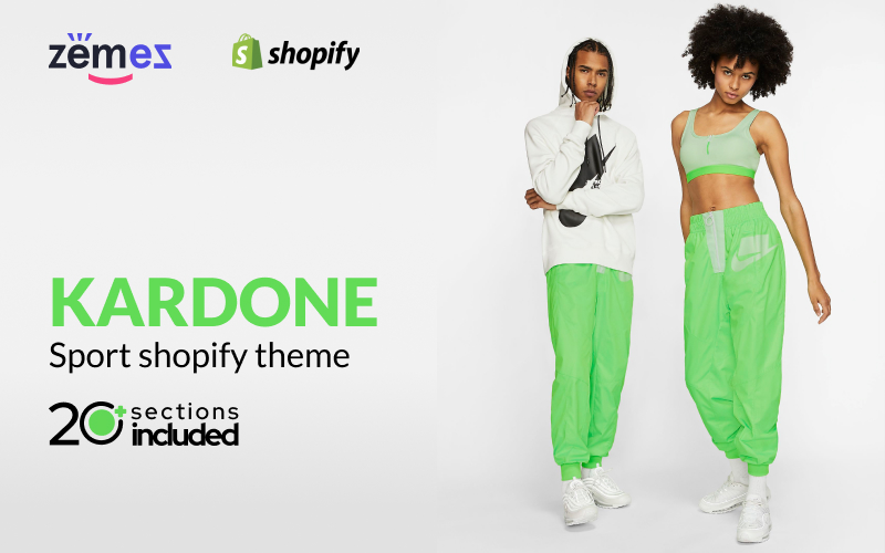 """Kardone - Sports Equipment Online Store Template"" Responsive Shopify Thema №99978"