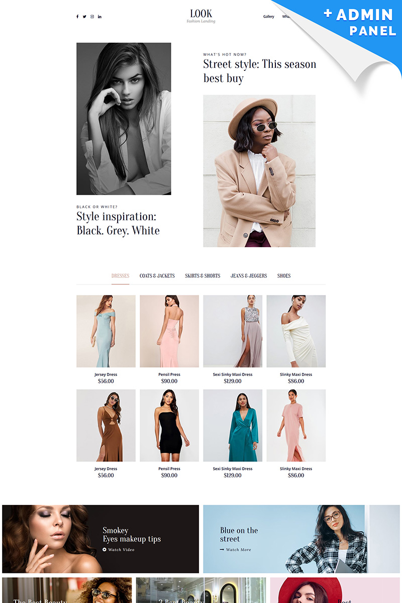 """Landing Page Template namens """"Look - Fashion House"""" #99919"""