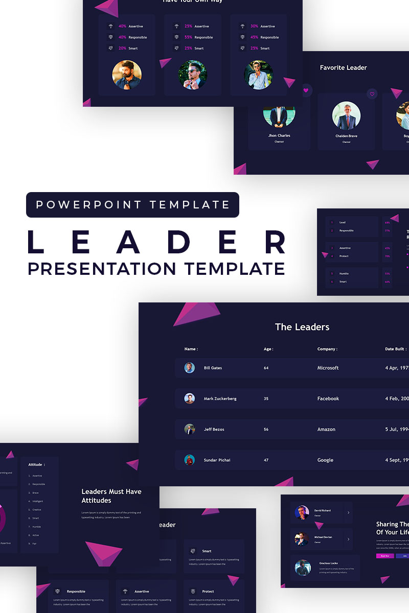 Leadership Presentation PowerPoint Template