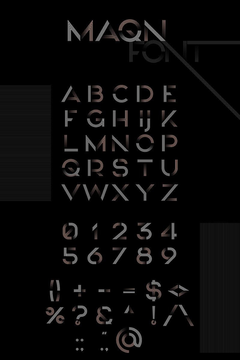 """""""MAQN"""" Lettertype №99917"""