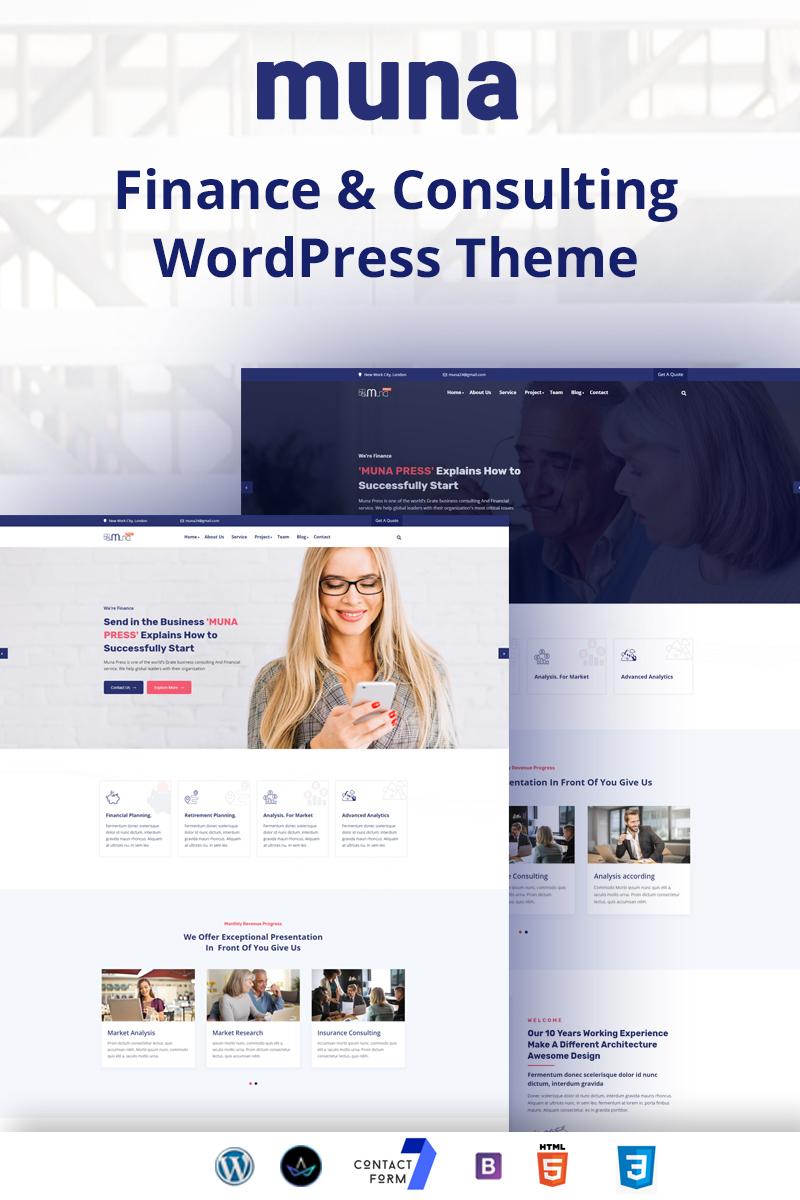 Muna - finance & Consulting Business WordPress Theme