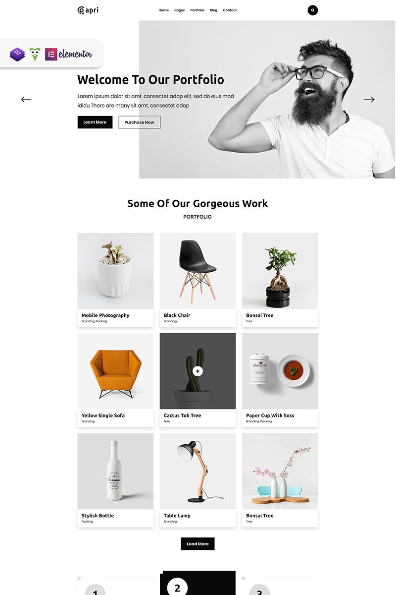 """Papri - Portfolio Creative"" WordPress模板 #99945"