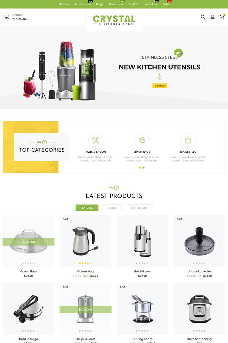 Responsywny szablon Shopify Crystal Kitchen #99913