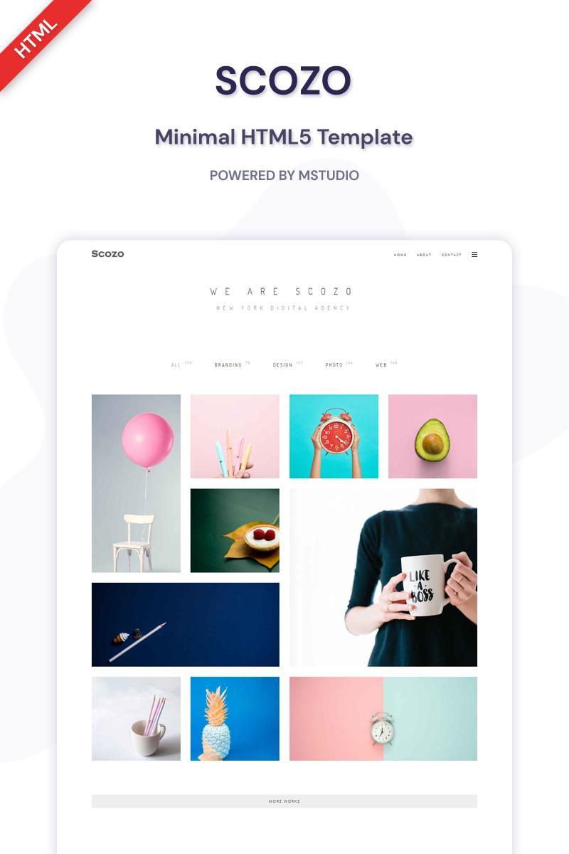 Scozo - Minimal HTML5 Website Template