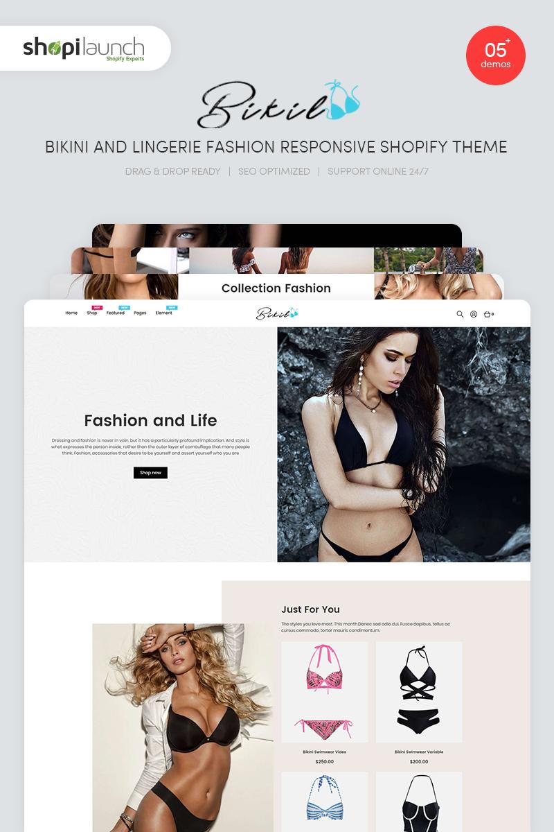 Szablon Shopify Bikil - Bikini & Lingerie Fashion Responsive #99910