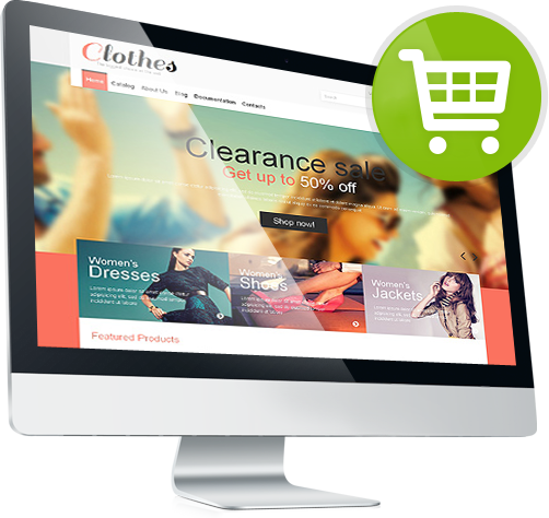template e commerce