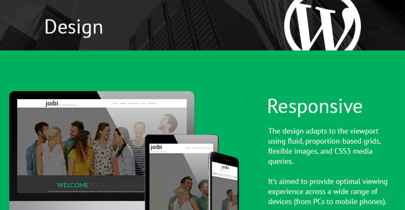 Business Services Promotion WordPress Theme - Features Image 1
