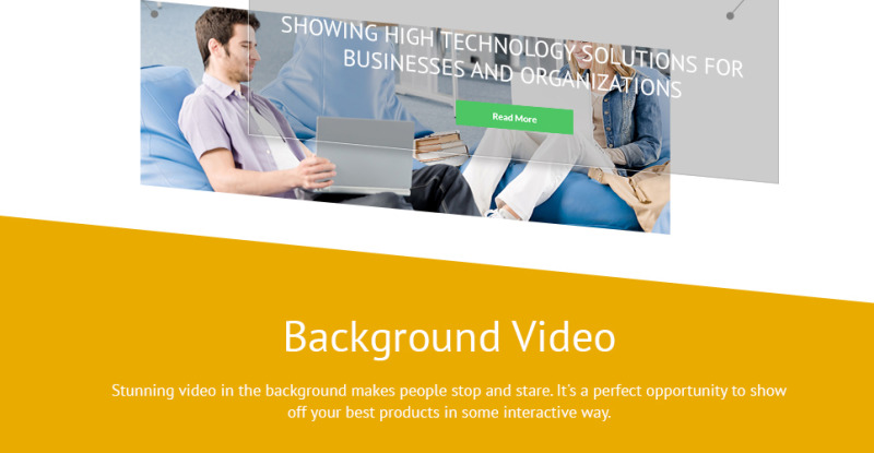 Business Services Promotion WordPress Theme - Features Image 3