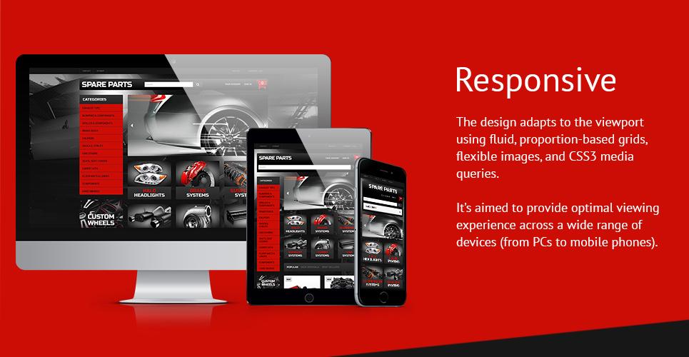 Automobile Replacement Parts PrestaShop 1.6