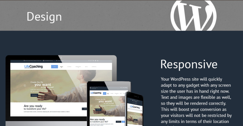 Life Coach Responsive WordPress Theme - Features Image 1