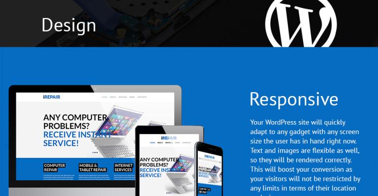 Tema de WordPress #52468 para Sitio de Reparación de computadoras