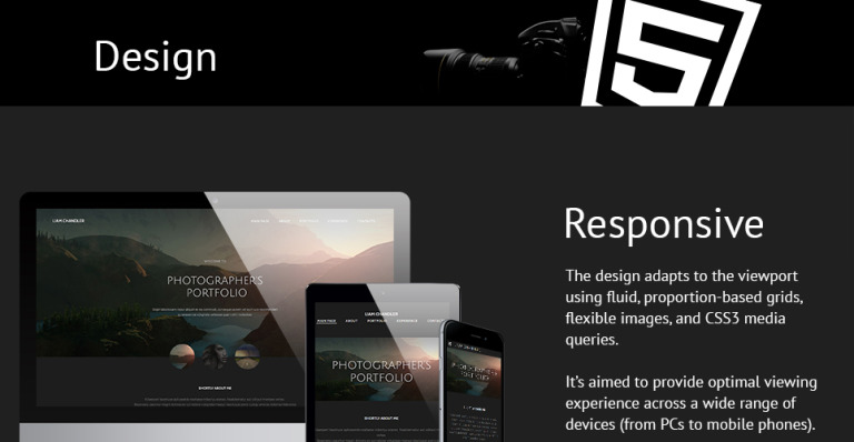 Photographer Website Template