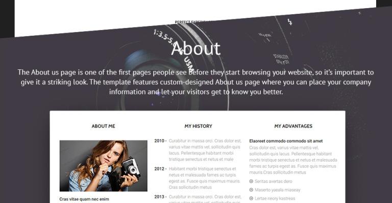 Photographer Website Template - Best website templates for photographers