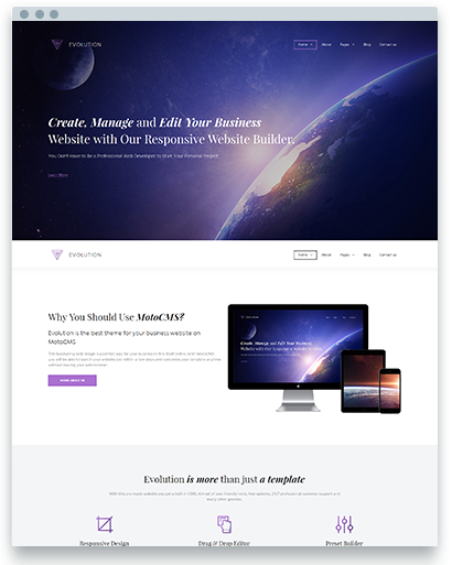 Website Builder MotoCMS 3.0 Pro Templates and Admin Panel