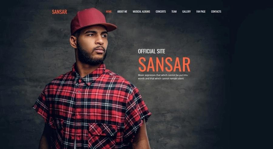 Sansar - Singer Premium Moto CMS 3 Template
