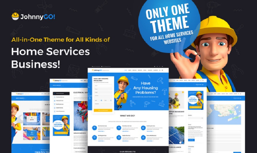 JohnnyGO Multipurpose Home Services WordPress Theme